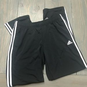 Adidas black tricot pants - large